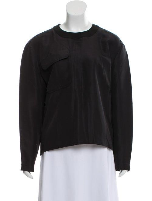 Balenciaga Silk Long Sleeve Blouse Black - image 1