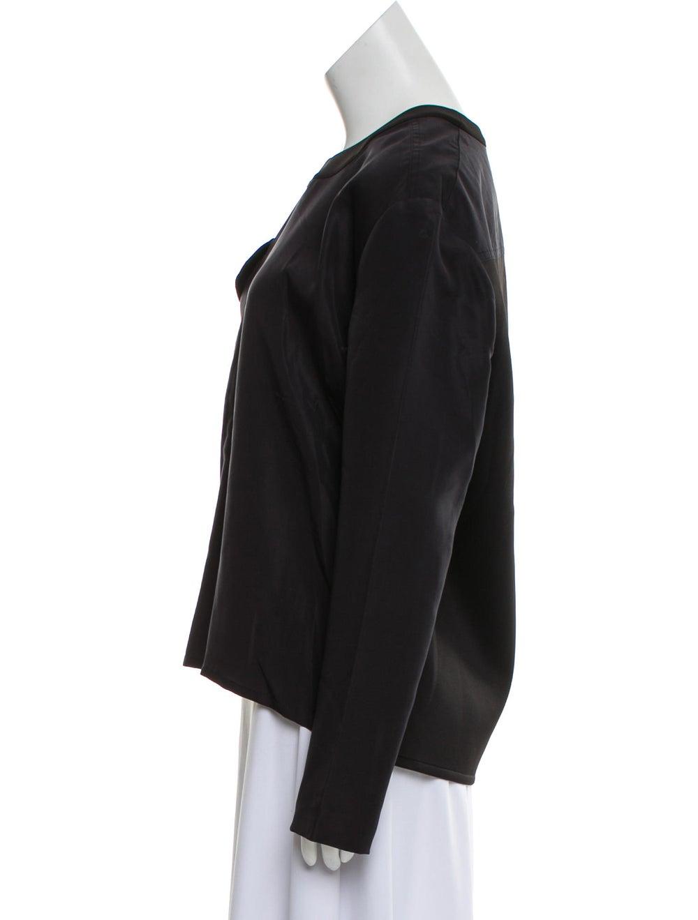 Balenciaga Silk Long Sleeve Blouse Black - image 2