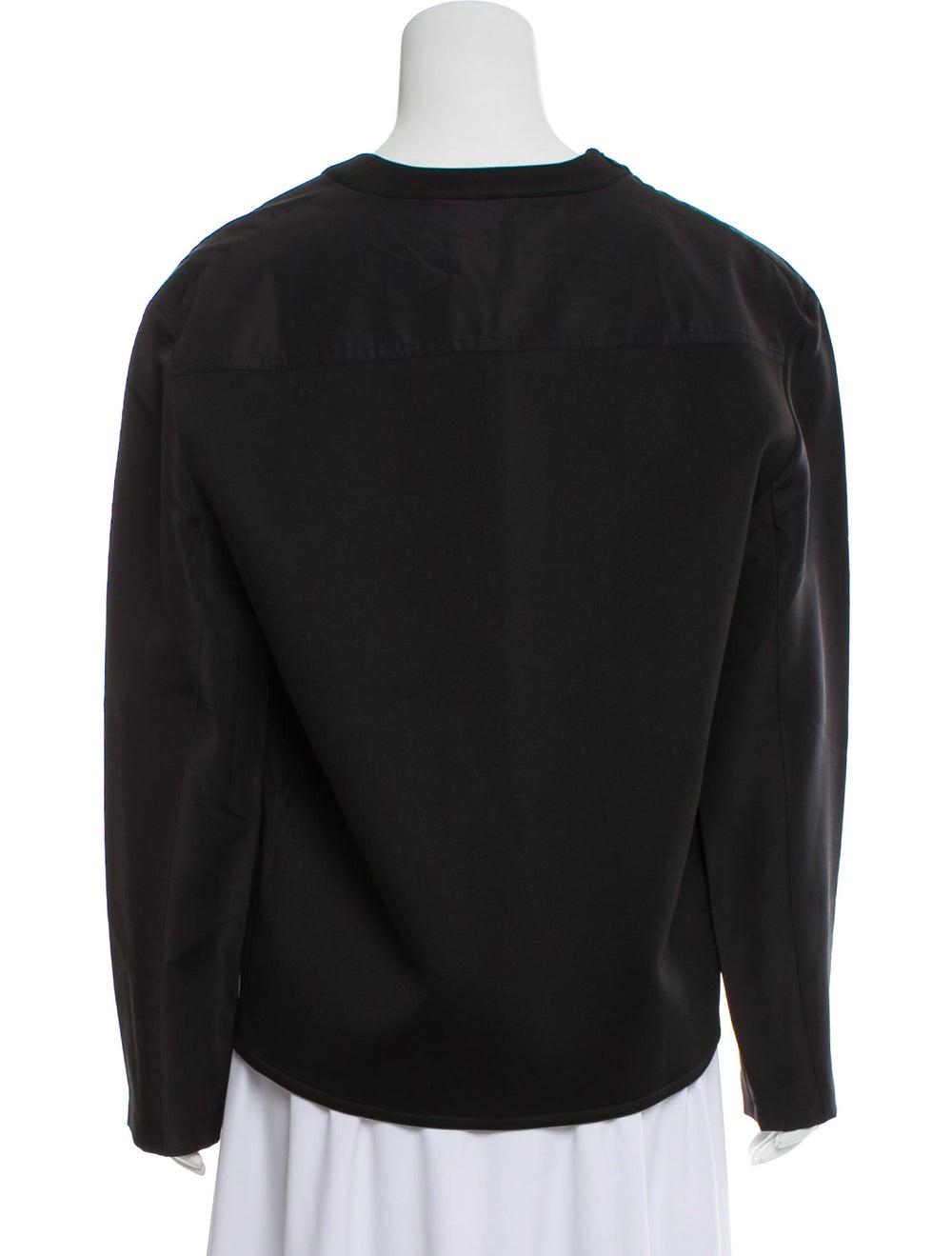 Balenciaga Silk Long Sleeve Blouse Black - image 3