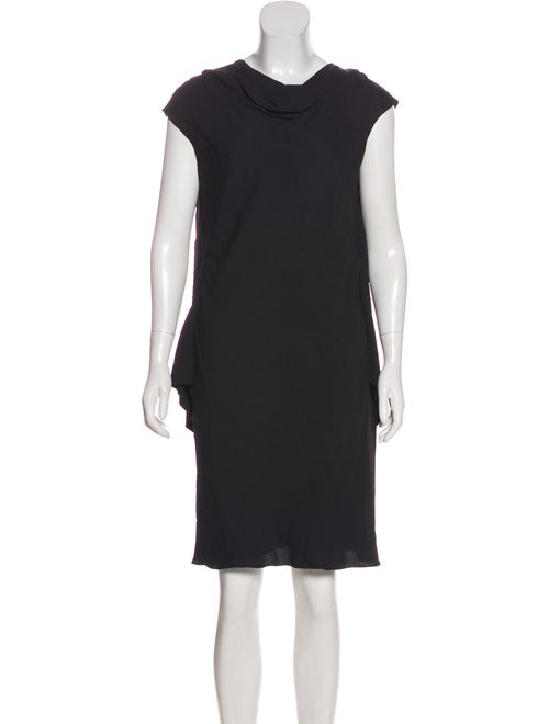 Balenciaga Cap Sleeve Mini Dress Black