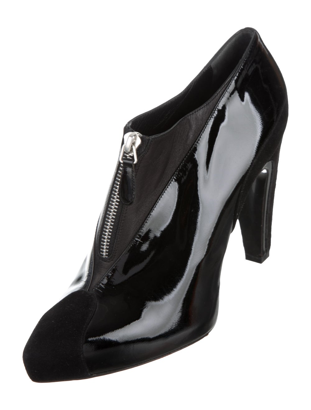 Balenciaga Cap-Toe Patent Leather Ankle Booties B… - image 2