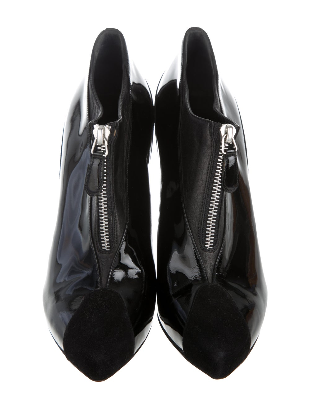 Balenciaga Cap-Toe Patent Leather Ankle Booties B… - image 3