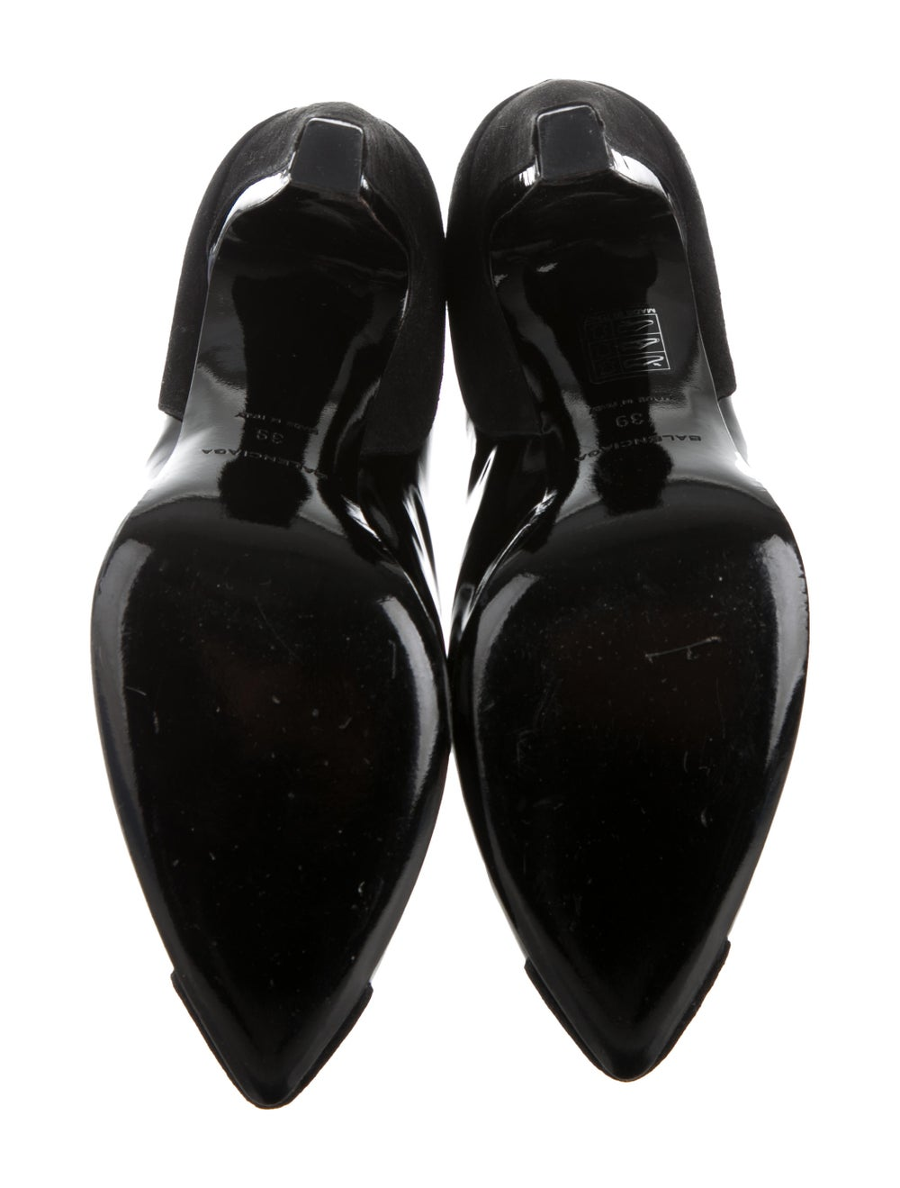 Balenciaga Cap-Toe Patent Leather Ankle Booties B… - image 5