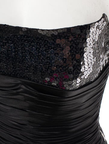 Strapless Sequin Dress