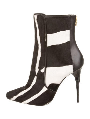Ponyhair Ankle Boots