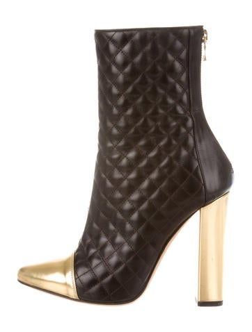 Spring 2014 Quilted Ankle Boots