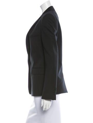 Wool Notch-Lapel Blazer