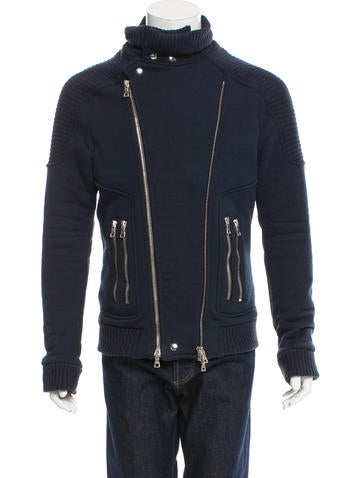 Balmain Moto Knit Jacket None