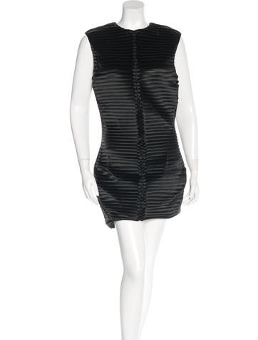 Balmain Ribbed Mini Dress None