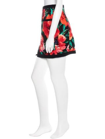Pre Fall 2015 Floral Velvet Mini Skirt