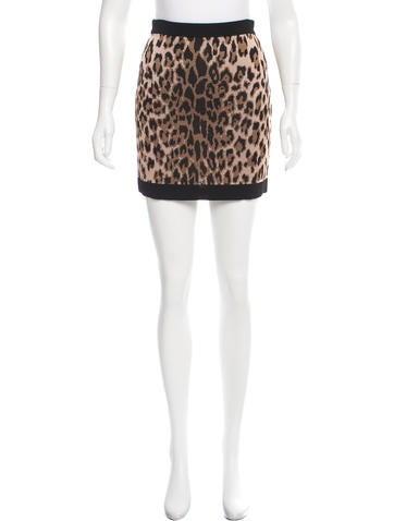 Balmain Leopard Print Mini Skirt None