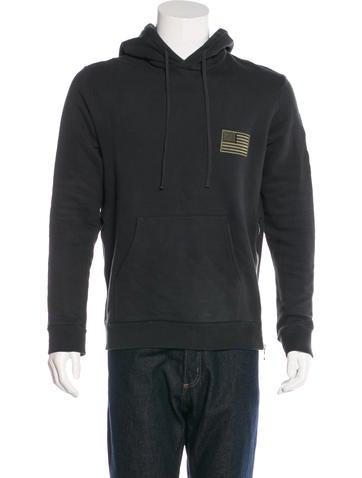Balmain Embroidered Hooded Sweatshirt None