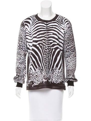 Balmain Animal Print Neoprene Sweatshirt None