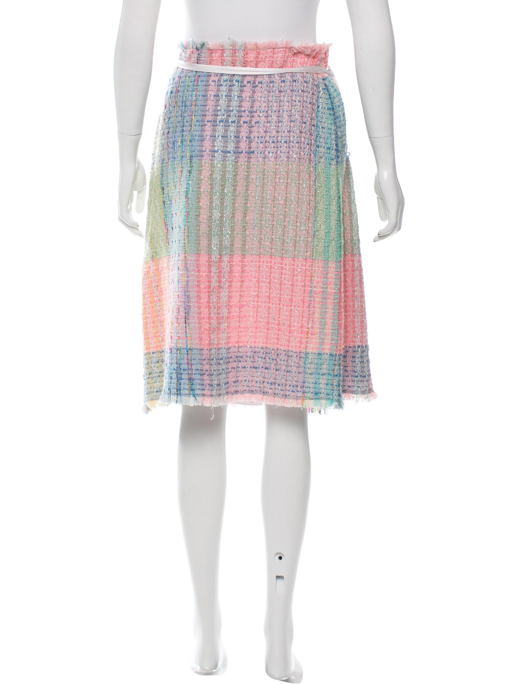 balmain a line tweed skirt clothing bam23436 the