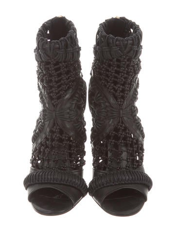 Crocheted Ankle Boots