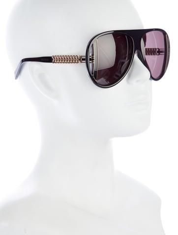 Chain-Link Oversize Sunglasses