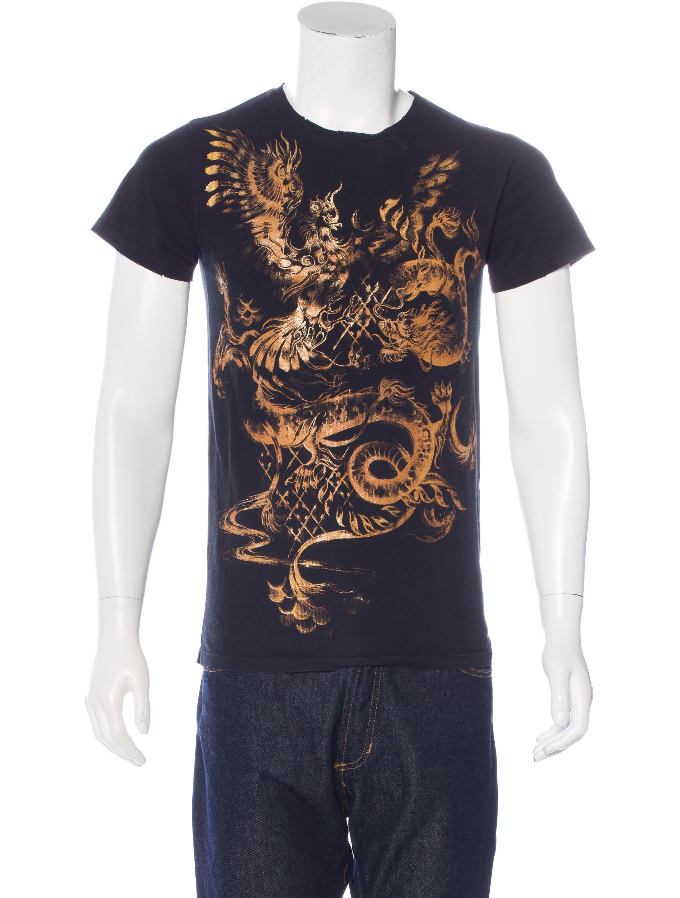 ed66137a Balmain Dragon & Phoenix T-Shirt - Clothing - BAM23524 | The RealReal