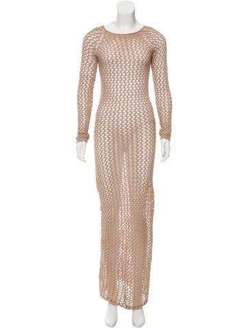 Balmain Crocheted Maxi Dress None