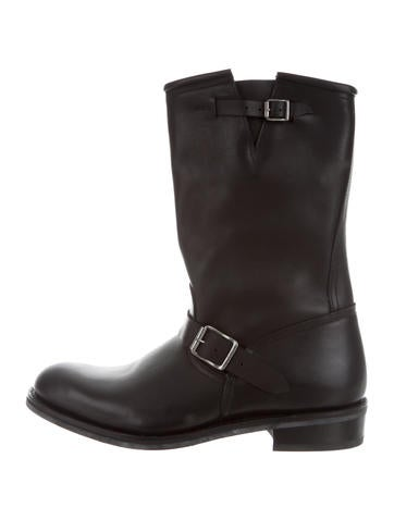 balmain leather engineer boots shoes bam23562 the
