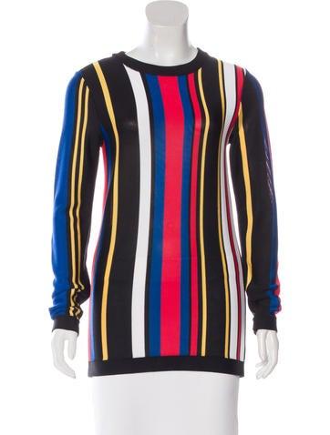 Balmain Striped Knit Sweater None