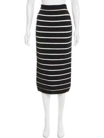 Balmain Striped Bandage Skirt w/ Tags None