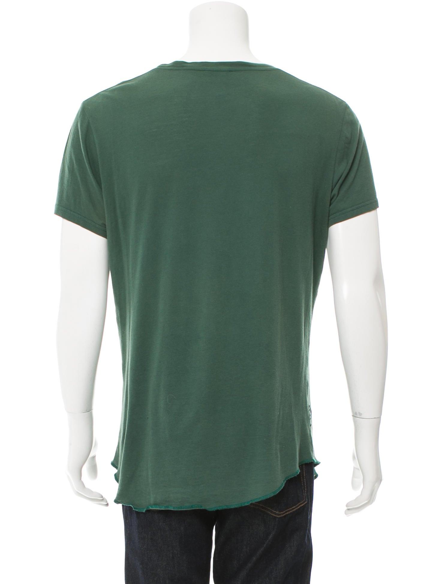 Balmain graphic scoop neck t shirt clothing bam24126 for Scoop neck t shirt