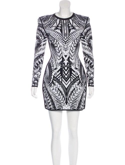 Balmain Knit Mini Dress Black