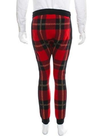 Balmain Plaid Wool Joggers W/ Tags - Clothing - BAM24692   The RealReal