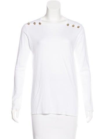 Balmain Long Sleeve Knit Top None