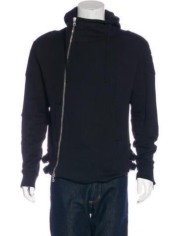 Balmain Zip-Accented Quilted Hoodie None