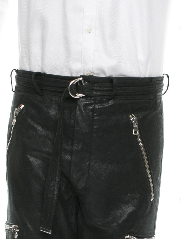 Balmain Leather Pants Clothing BAM24894 The RealReal : BAM248944enlarged from www.therealreal.com size 768 x 1013 jpeg 59kB
