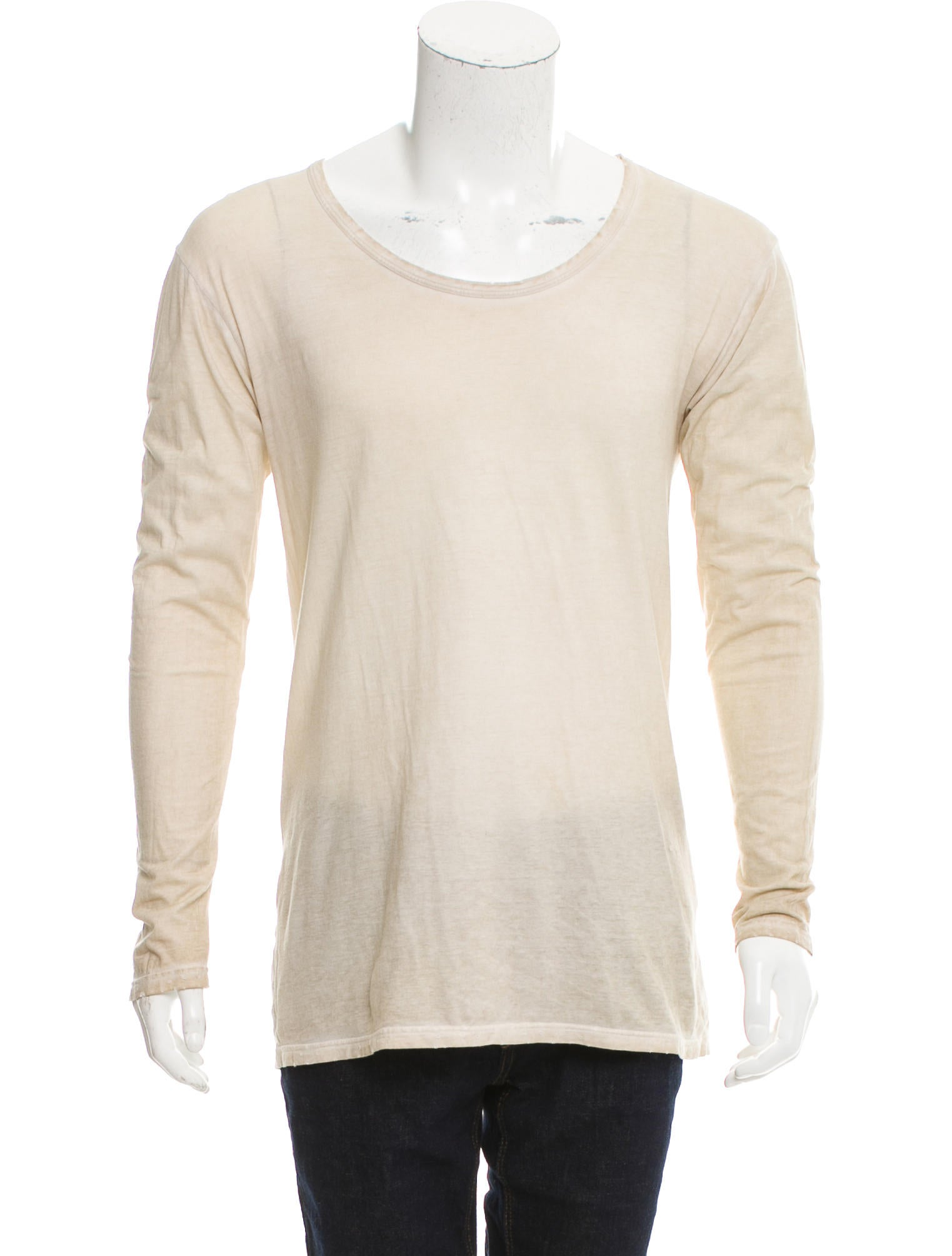 Balmain distressed knit shirt clothing bam25010 the for How to make a distressed shirt