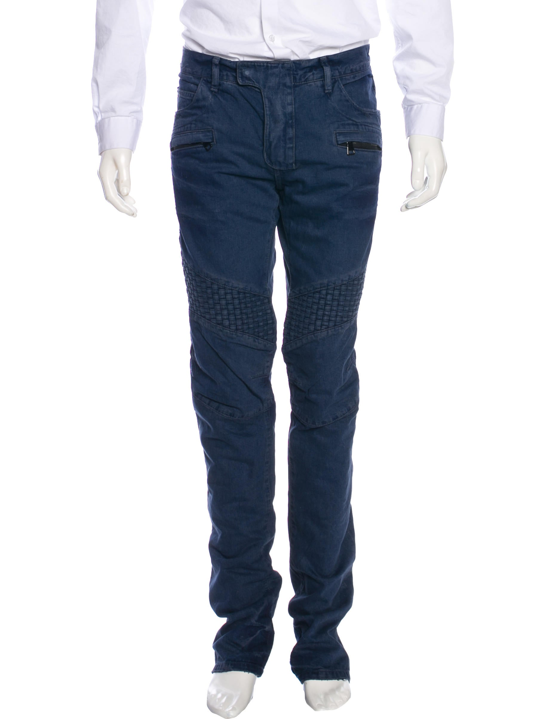 Free Shipping and Free Returns on Balmain Distressed Skinny Biker Jeans at funon.ml Made in Japan, Balmain's light blue cotton-blend denim skinny biker jeans are distressed with shredding, fading, and whiskering.