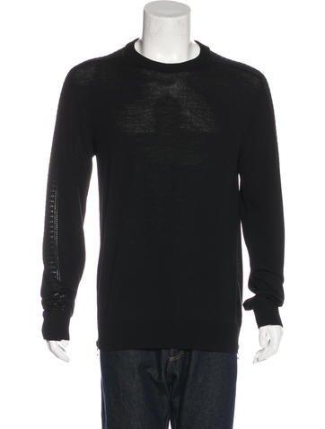 Balmain Zip-Accented Wool Sweater None