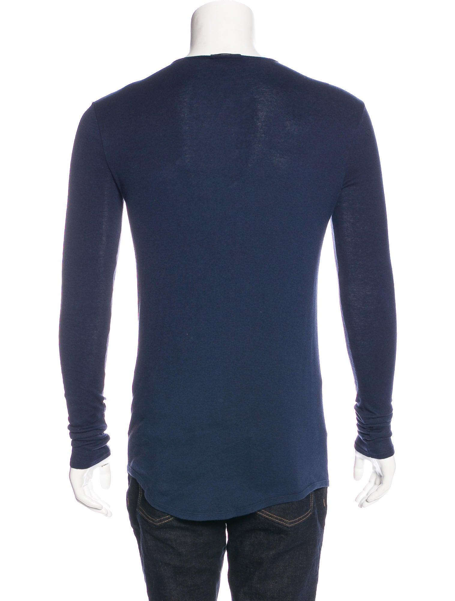 Balmain Cashmere Blend Henley T Shirt Clothing