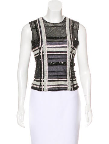 Balmain Embellished Sleeveless Top w/ Tags None