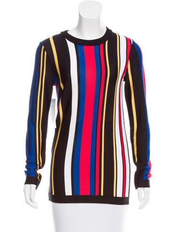 Balmain Striped Knit Top None