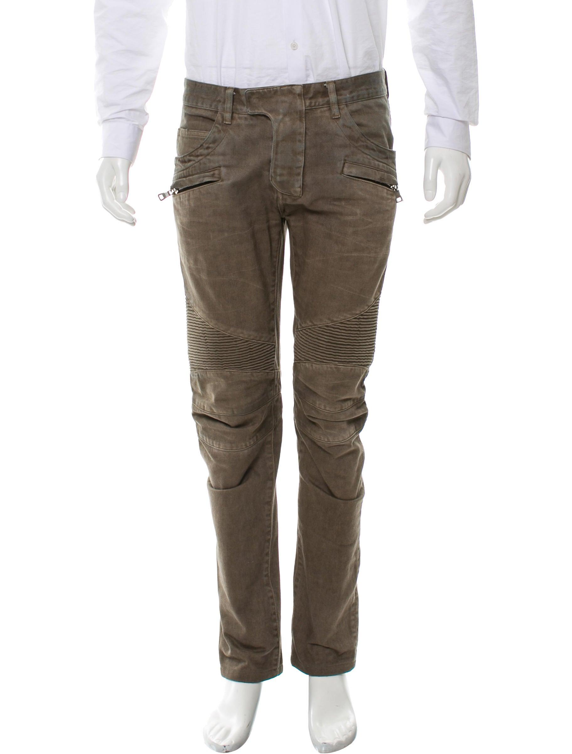 b09e365e Balmain Distressed Moto Jeans - Clothing - BAM25578   The RealReal