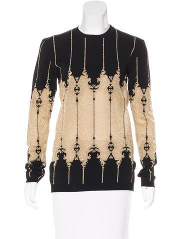 Balmain Metallic Jacquard Sweater None