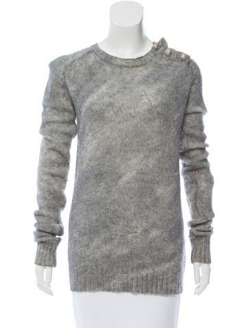Balmain Long Sleeve Wool Sweater None