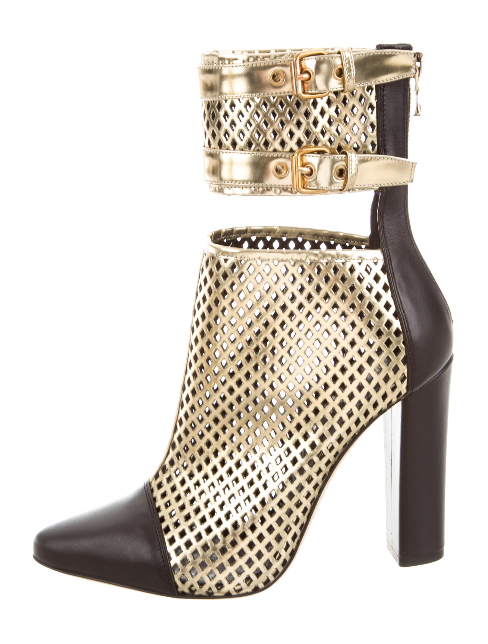 Balmain Perforated Blaow Booties w/ Tags outlet fake PAlMZlABSQ