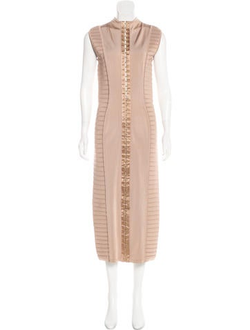 Balmain Sleeveless Midi Dress None