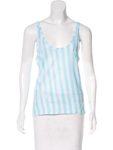 Balmain Sleeveless Striped Top None