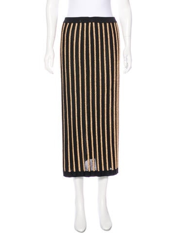 Balmain Metallic Midi Skirt None