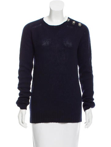 Balmain Long Sleeve Wool Sweater None