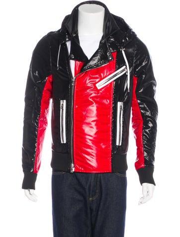 Balmain Hooded Moto Jacket None