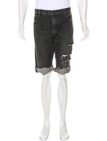 Balmain Distressed Denim Shorts None