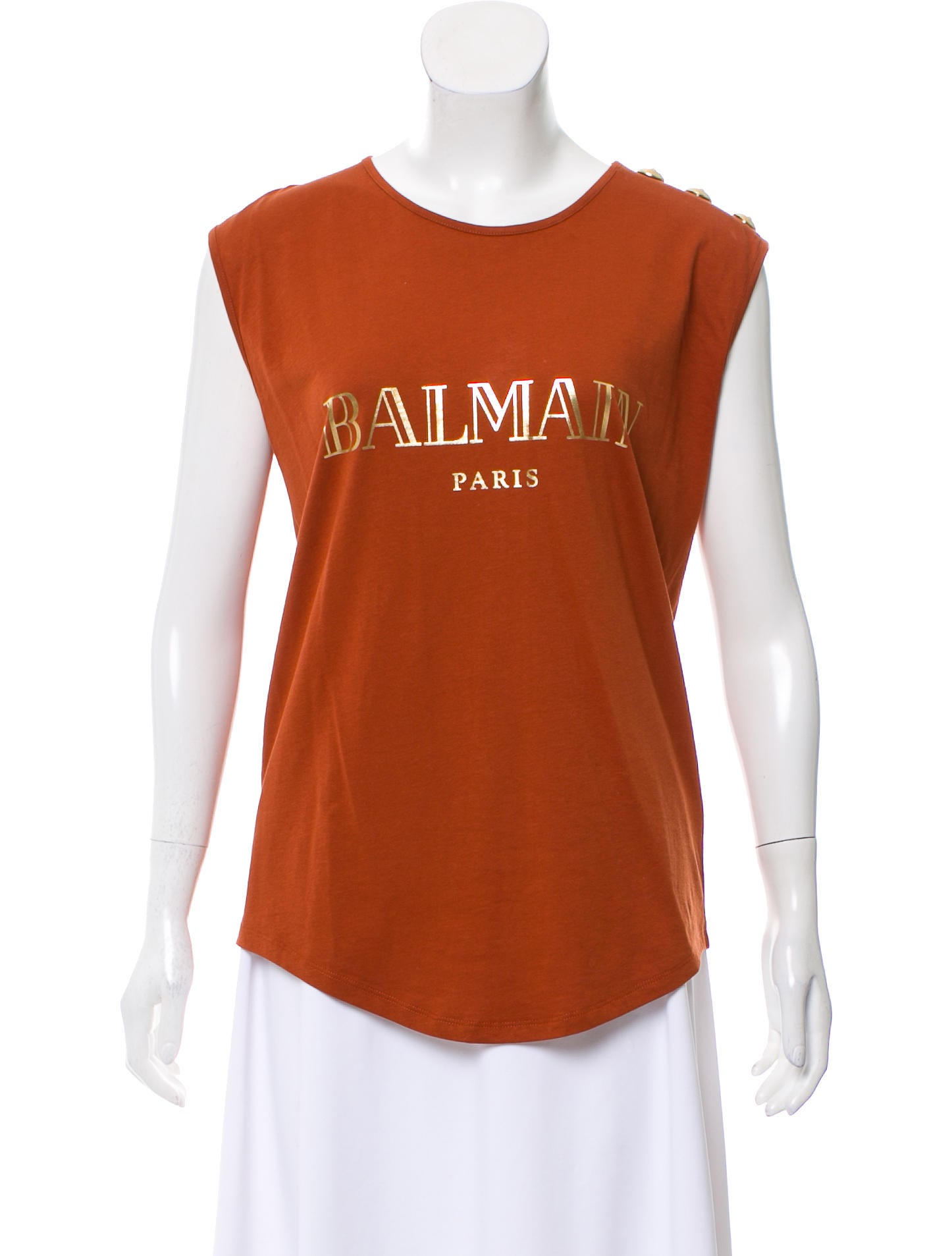 050d1c44dd5976 Women · Clothing  Balmain Sleeveless Logo Top. Sleeveless Logo Top