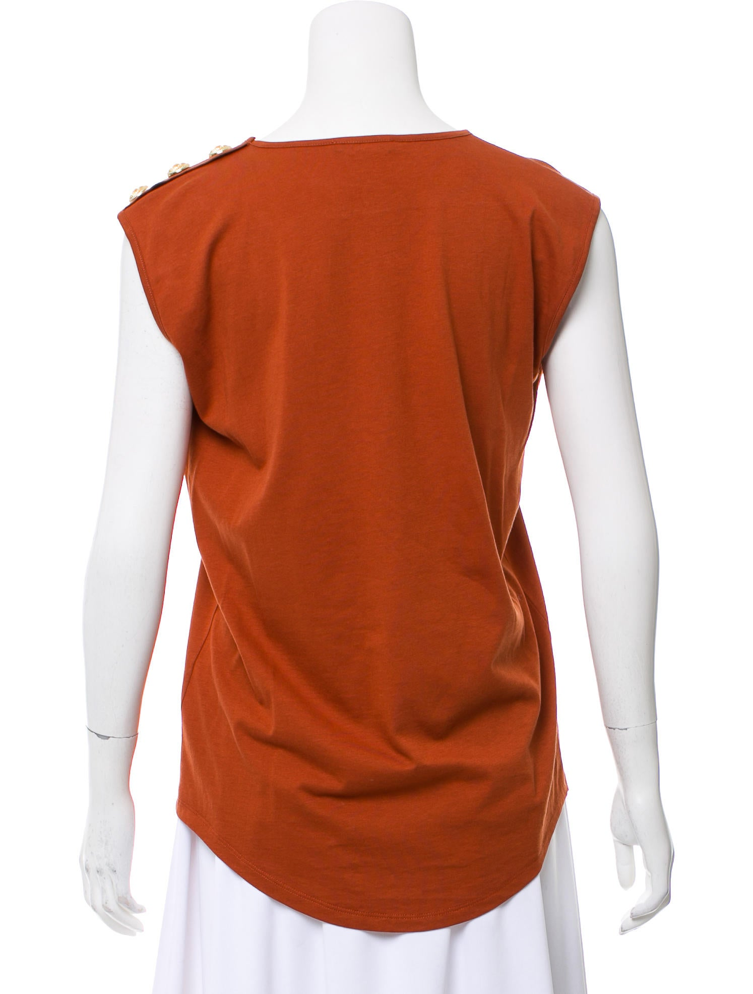 922259174c1abf Balmain Sleeveless Logo Top - Clothing - BAM27622