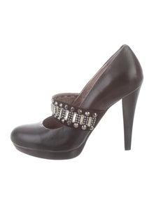 c6f0d7878f05df Balmain. Leather Embellished Pumps